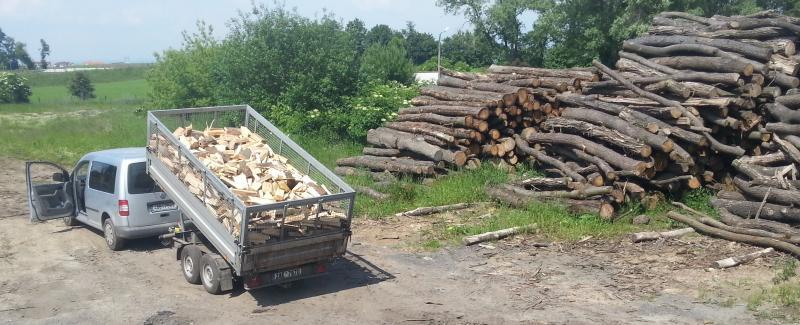 palivové dřevo - doprava